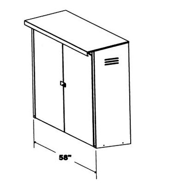 JL Industries HECIG Fire Hose Equipment Storage Cabinet