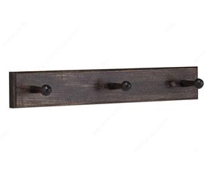 richelieu rh320317357 wooden hook rack 16 in mocha