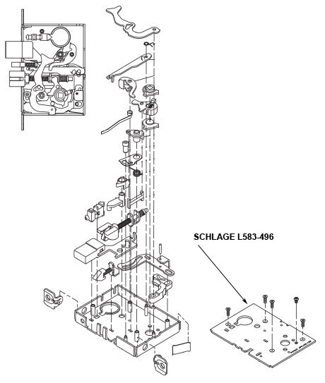 Schlage L583-496 Lock Case Cover