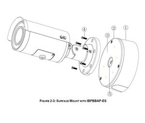 Pelco PEL-IBP2BBAPES SRX PRO2 Environmental Bullet Surface