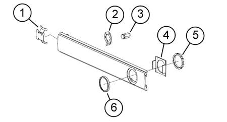 Von Duprin 050115-628 Cylinder Dogging Conversion Kit for