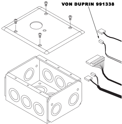 VON DUPRIN 991338 RCM 2-Wire RX Cable