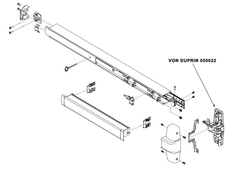 VON DUPRIN 050022 98/9947/48/-F Center Case Kit Less Cover
