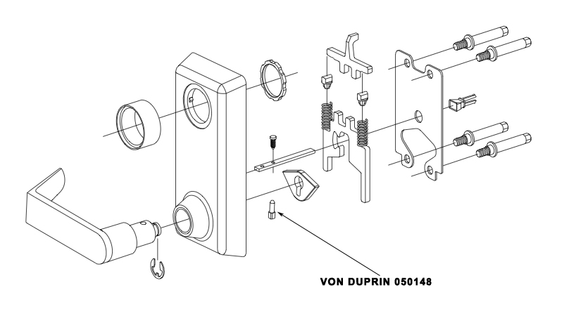 VON DUPRIN 050148 230L Shearpin Replacement Kit Package of 10
