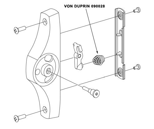 VON DUPRIN 090028 55 End Case Spring Package of 4