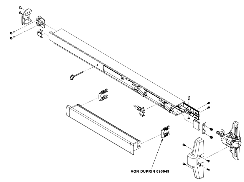 VON DUPRIN 090049 33A/35A Push Bar Guide Package of 10