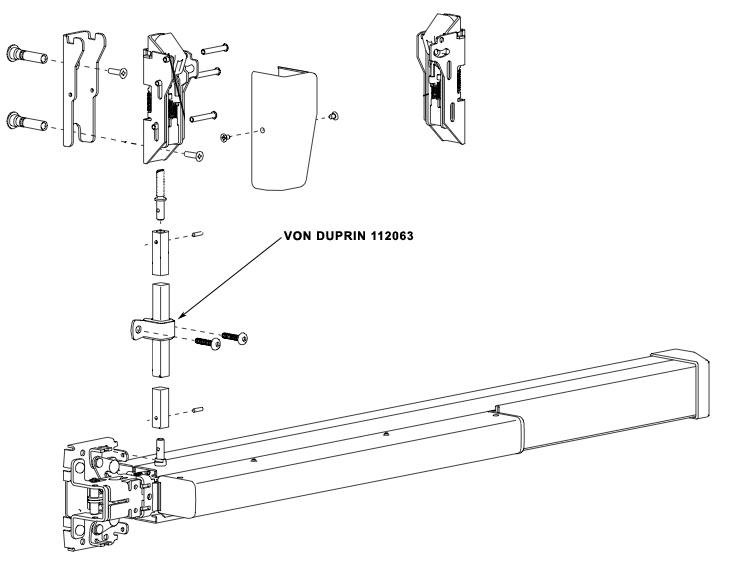 VON DUPRIN 112063 US26 98/9927/98/9957-F Rod Guide Assembly