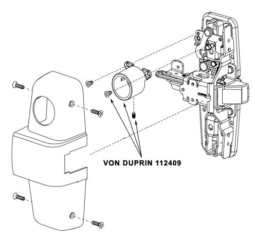 VON DUPRIN 112409 US10 CD-CX Cylinder Dog Housing US10 Finish