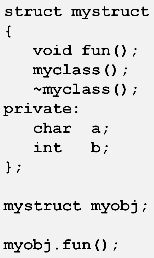 struct vs class in C++ « The Colin Walls Blog