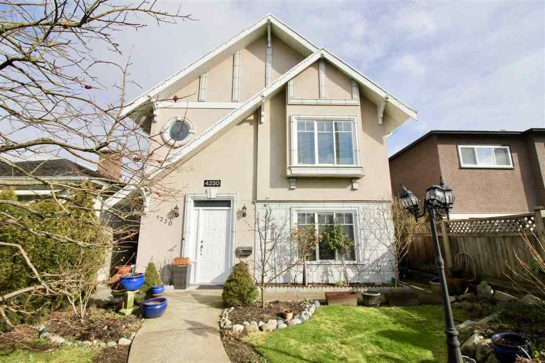 Welcome to this 2-level heritage style home in move in condition. Immaculate, 5-bedroom, 4-bathroom efficiently laid out home is located in a central location in Burnaby. Main floor features 9' ceiling. Open concept kitchen with granite countertop and stainless steel appliances. Covered deck for all-season entertainment. Elegant 3 bedroom on top, spacious master bedroom with walk-in closet. Central location is 10 mins drive to Deer Lake, Central Park and Metrotown. Skytrain Station is 15 mins walk away. Located near schools Cascade Heights Elementary and Moscrop Secondary School. GRAND OPEN: March 11, Sunday: 2-4pm.