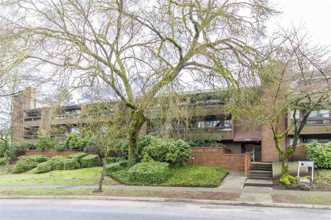 "Investor's Alert: :RENTALS ALLOWED"". East facing quiet corner unit at Bell Park Terraces. This 960 SQFT large unit features 2 bdrms, 2 full baths, laminate flooring, wood burning fireplace. Balcony overlooking the quiet, treed courtyard & gardens. Centrally located. Close to Skytrain station, Lougheed shopping mall, Cameron rec centre & schools. Very accessible to SFU & Downtown. Heat & Hot Water is included in the maintenance fee. Well maintained building with new roof, new balconies, new fences & skylights. Secure underground parking, storage locker and in-suite laundry! Rentals allowed. Pets: 2."