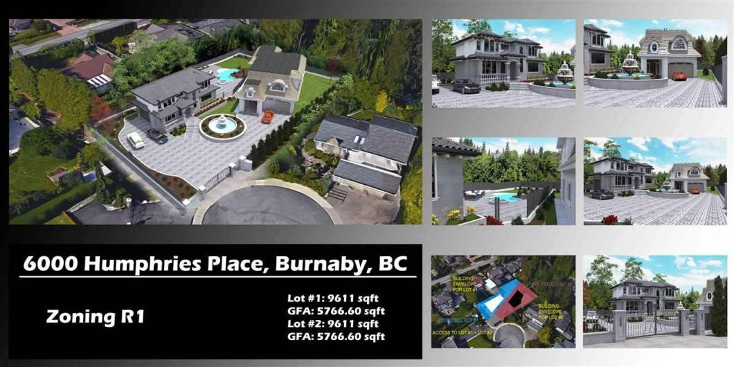 One of a kind R1 zoned site in prestigous Buckingham Heights. Lot being Subdivided into 2 parcels (9611 sqft each). Located on a quiet Cul-de-Sac with Beautiful Views of the North Shore Mountains, Downtown, City Skyline and Deer Lake. The site is Filled, Serviced and includes High End Stamped Concrete and aluminum fencing, yard lights, & roughed in retaining wall lights, Remote Control Gate with rough in for a security system panel and intercom, electrical kiosk, generator hut with water hook up. this is not your typical subdivision. Unique opportunity for investors and developers alike. You have to see it in order to appreciate the work that has gone into the site. Contact listing agent for an information package.