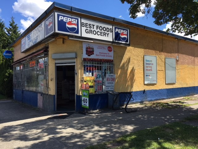 Grocery, Lotto, Cigarette, Key Cut and much more potential. Rent $4000 (includes Property tax, building operating cost) Lease July 2022 (option exercised), Excellent location, high traffic, open 7am - 10pm/7 days, 2 owner parking spots, Ample Street parking. Flower Potential, Canada Post Parcel Distribution centre possible, Child care possible subject to city apporval