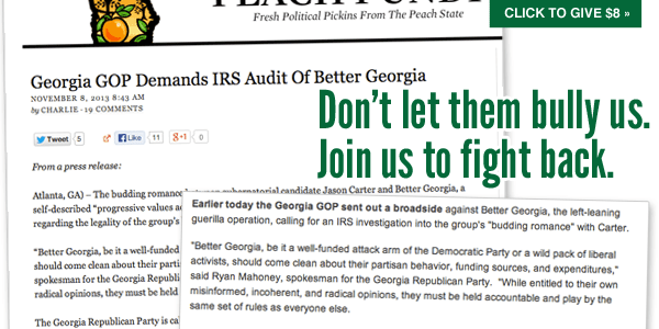 Better Georgia attacked by Georgia GOP