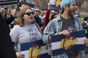 Demonstrators at Colorado's March for Life on Jan. 17 are among abortion opponents rallying nationwide this week. (Photo Credit: March for Life Colorado 2015)