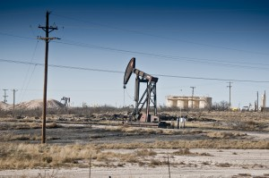 Oil rig in southeast New Mexico. Photo by Margaret Wright