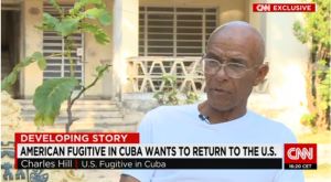 A screenshot of Charlie Hill in an interview with CNN.