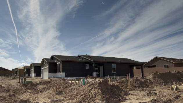 Dense new construction has sprung up in a neighborhood immediately adjacent to the northern edge of Western Albuquerque Land Holdings. Albuquerque's southwest quadrant also has the highest number of homes at risk of being foreclosed upon. Photo by Margaret Wright