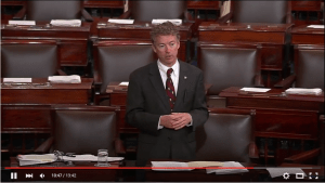 Rand Paul during a filibuster on NSA bulk data collection on May 20, 2015.