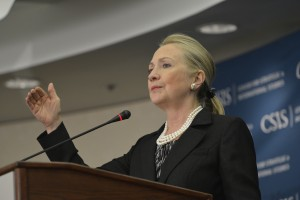 Hillary Clinton at CSIS speech in 2012. Photo by csis_er cc