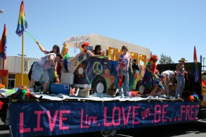 A float at Albuquerque Pride 2008. Photo Credit: rachelbinx cc