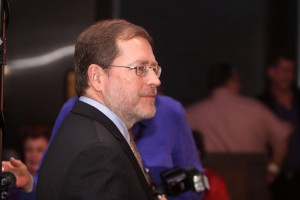 "Grover Norquist speaking at a ""Politics on the Rocks"" event in Scottsdale, Arizona in 2012. Photo Credit: Gage Skidmore cc"