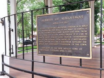 Skirmish of Albuquerque plaque