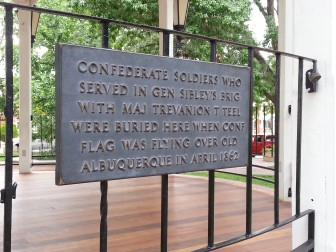 Confederate dead plaque