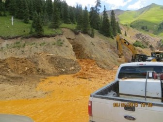 Photo Gold King Mine. Photo by EPA.