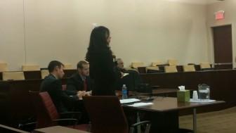 Attorney General staffers (l-r) Joseph Spindle, Zack Jones and Clara Moran. Photo Credit: Joey Peters