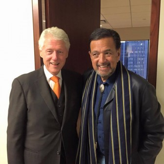 Former President Bill Clinton and former New Mexico Governor Bill Richardson in New York City. Via Facebook.