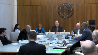 Screenshot of webcast of House Safety and Civil Affairs Committee hearing on Jan. 26, 2015.