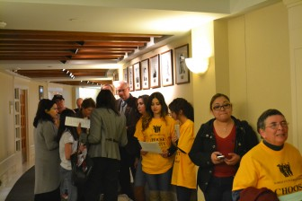 Members of the public lined up to speak against the Republican driver's license bill