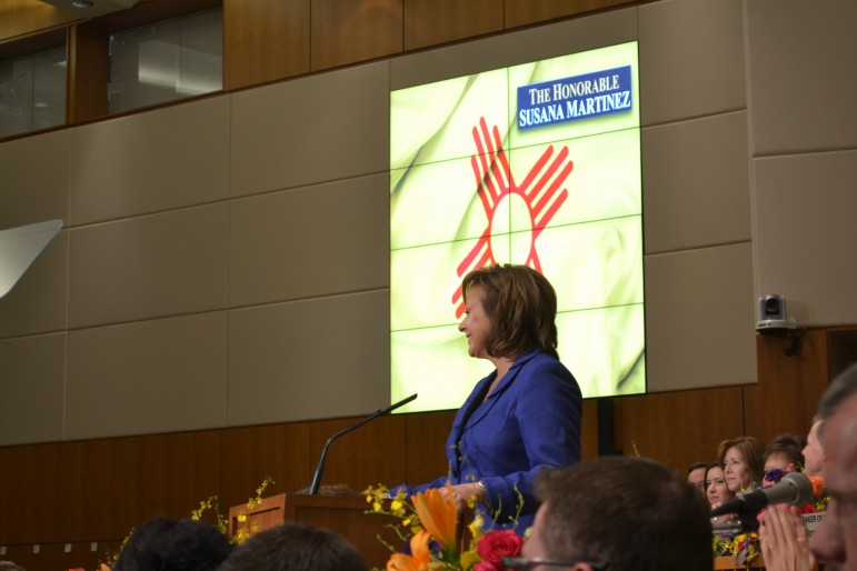 Gov. Susana Martinez during the 2016 State of the State Address. Photo Credit: Andy Lyman.