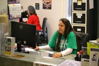 Cindy Maldonado, right, helps coordinate operations at Albuquerque High Schools health clinic.Cindy Maldonado, right, helps coordinate operations at Albuquerque High Schools health clinic.