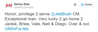 Screenshot of a Danny Diaz tweet.