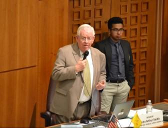 Sen. John Arthur Smith presenting HB 99, the REAL ID legislation that passed the Senate in 2016.