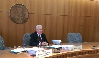 Sen. John Arthur Smith, D-Deming, discussing the 2016 budget situation.
