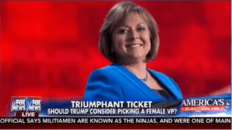 Susana Martinez in a screenshot from Fox News.