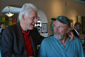 Former President Bill Clinton makes a surprise appearance at The Range in Albuquerque.