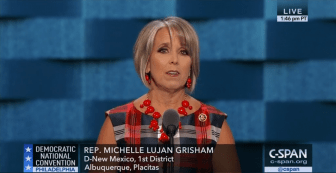 U.S. Rep. Michelle Lujan Grisham speaking at the 2016 Democratic National Convention.