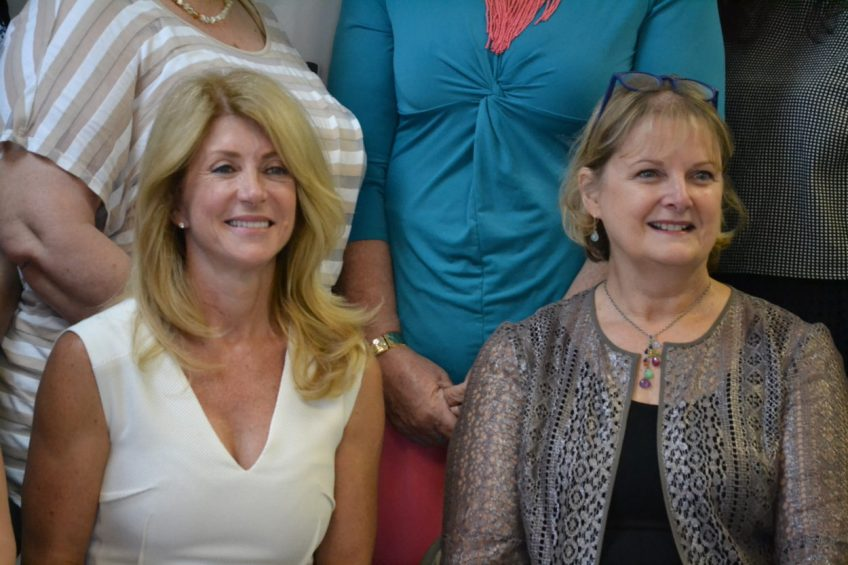 Wendy Davis and Rep. Debbie Armstrong, D-Albuquque