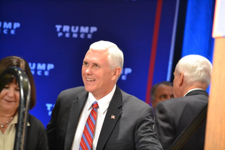 Mike Pence at an Albuquerque campaign rally.