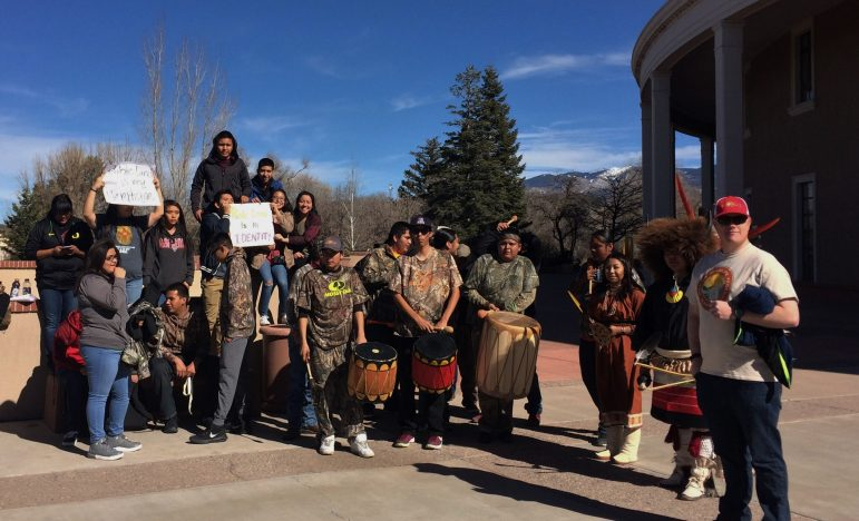 Students in the Pueblo Pathways Project at the Santa Fe Indian School