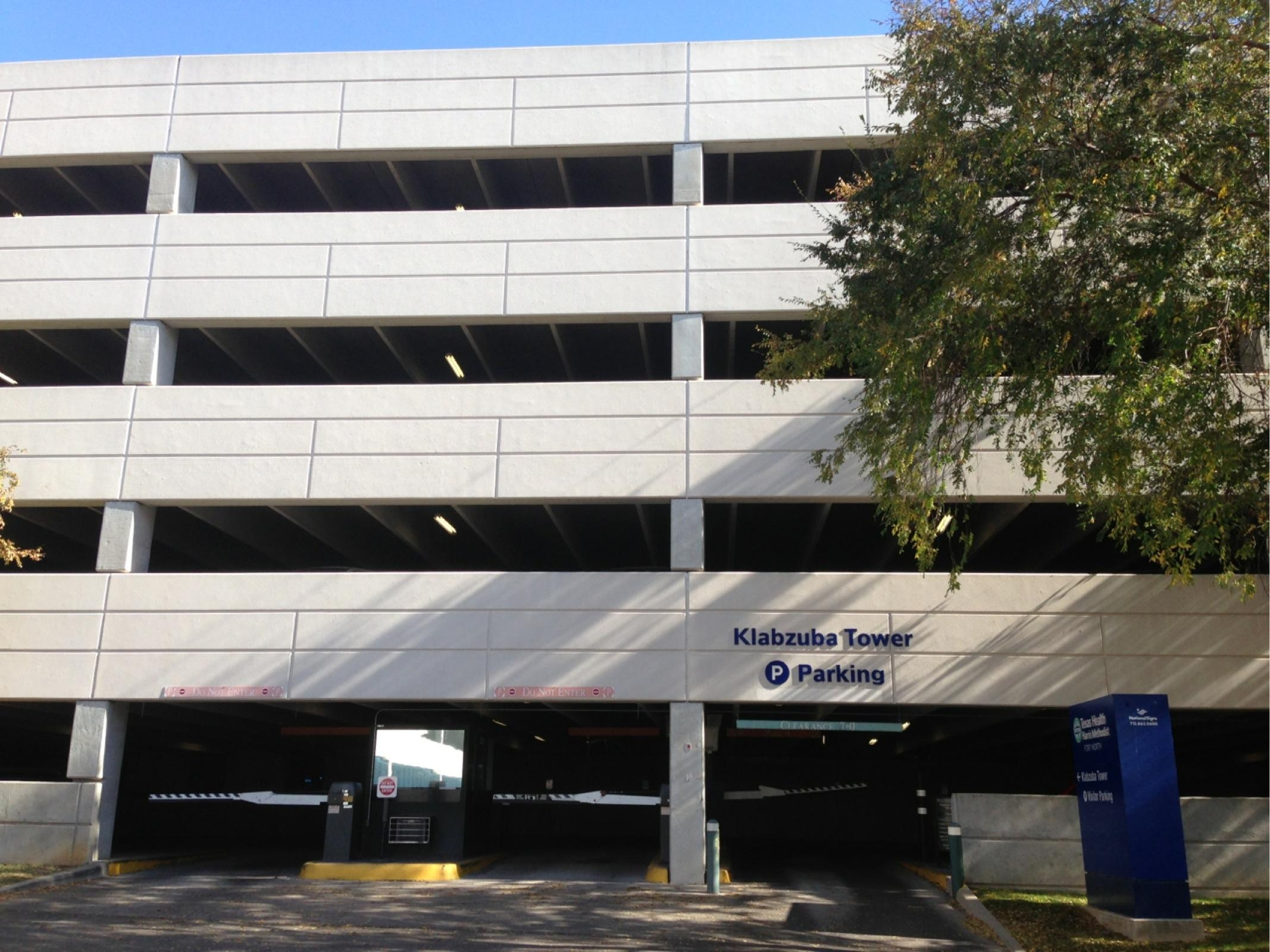 Harris Methodist Fort Worth Hospital  Klabzuba Parking
