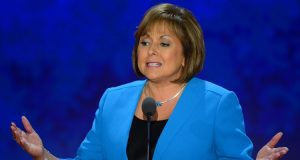 New Mexico Governor Gov. Susana Martinez speaks to the delegation at the Republican National Convention in Tampa, Florida, Wednesday, August 29, 2012. (Harry E. Walker/MCT)