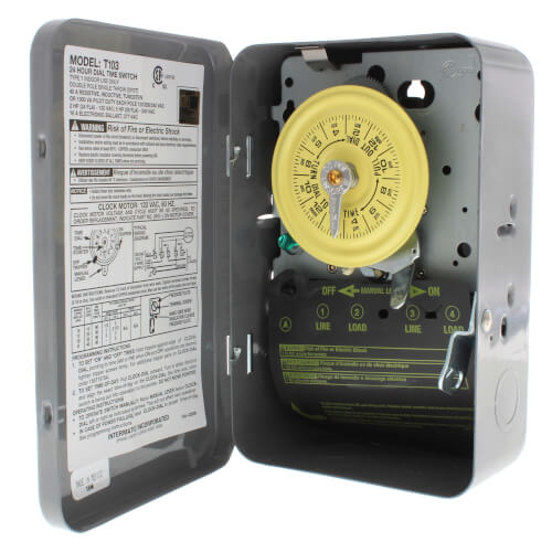 Intermatic T103 Timer Wiring
