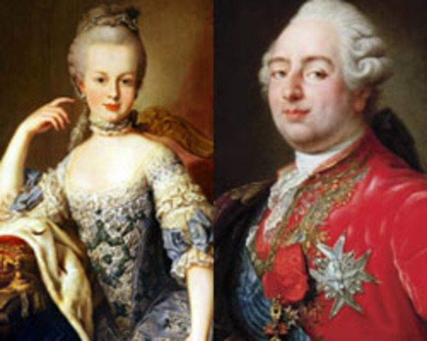 Antoinette And Louis Marie France Xvi Louis