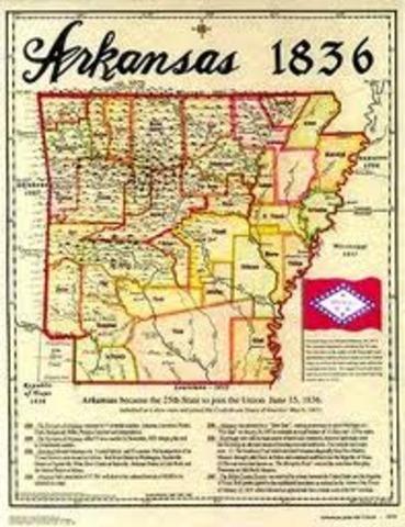 Antebellum Arkansas timeline Timetoast timelines