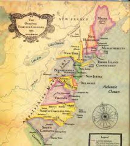 The 13 Colonies timeline  Timetoast timelines